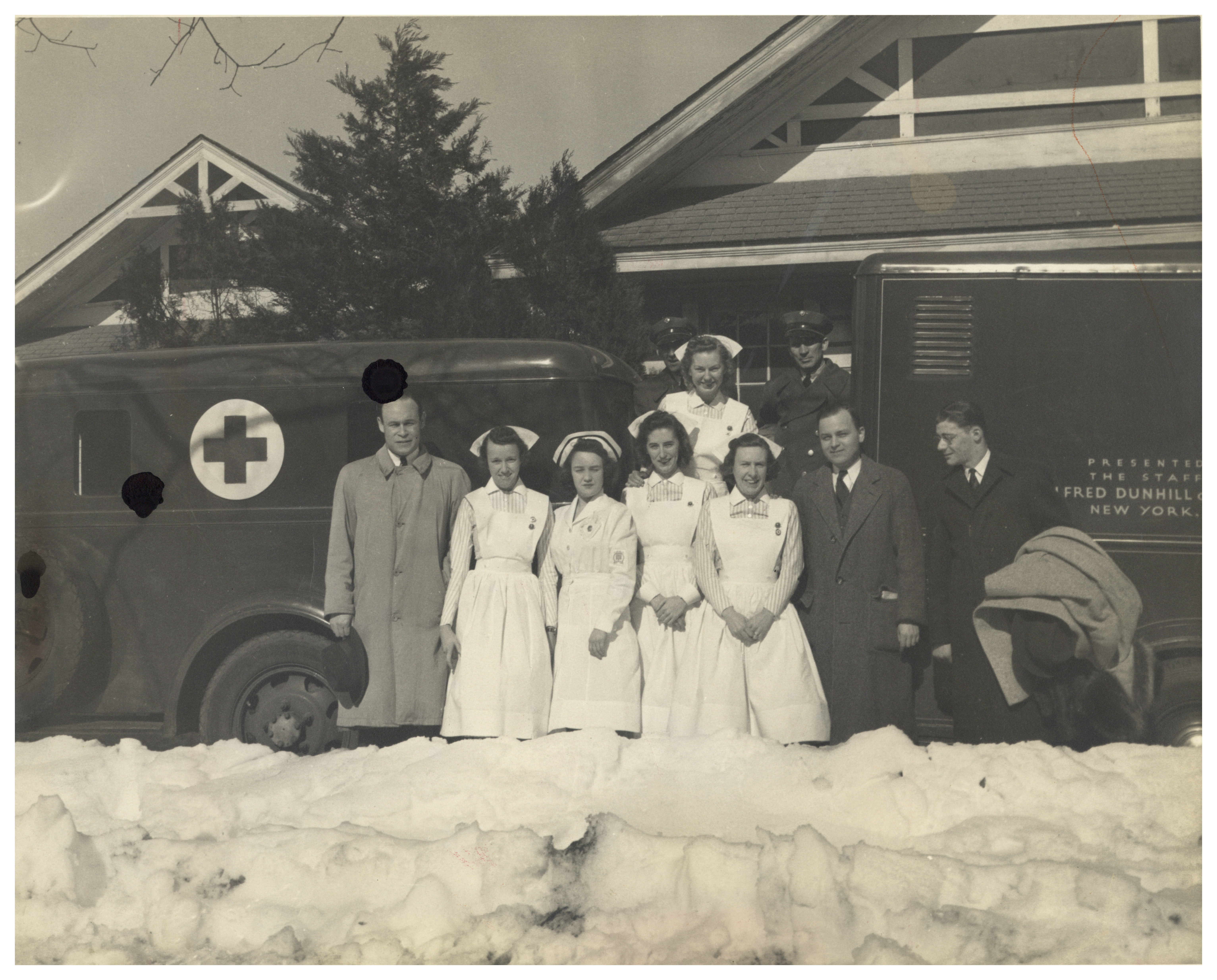 One of the first mobile blood collection vehicles.