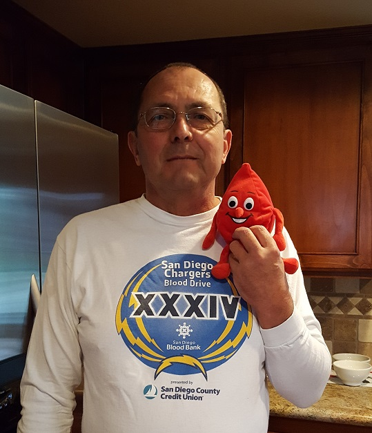 Volunteer Mike for National Blood Donor Month