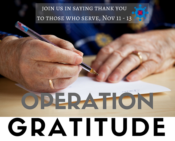 Writing Letters for Operation Gratitude