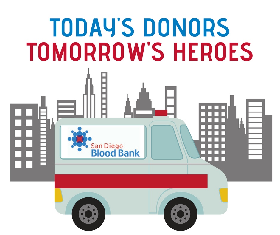 Today's blood donors and tomorrow's heroes