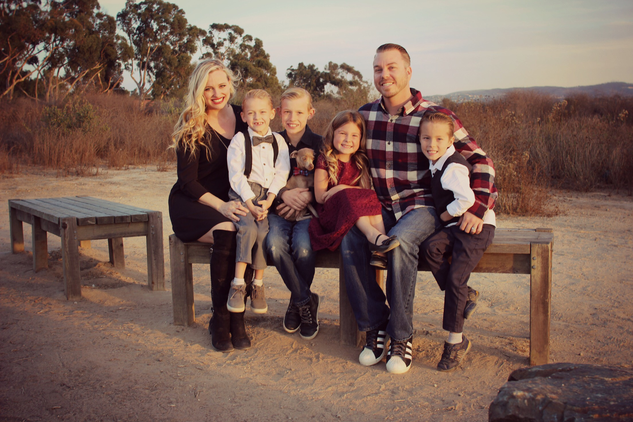 Waylon with his Family