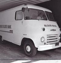 1956.  The original San Diego Blood Bank bloodmobile