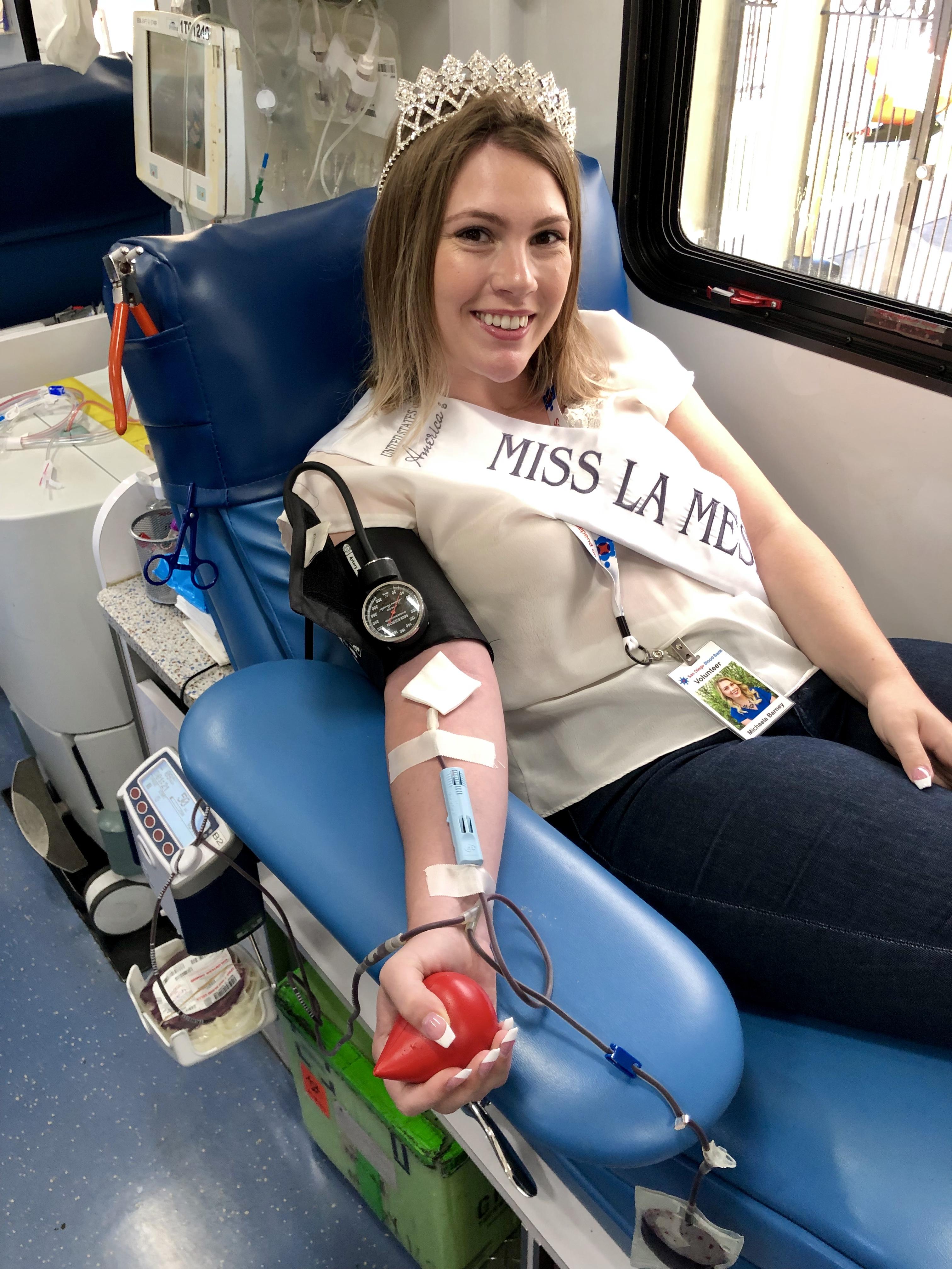 Miss La Mesa San Diego Blood Bank