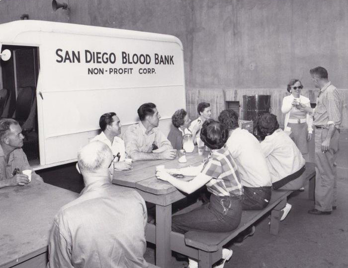 Historical 1950's San Diego Blood Bank Photo